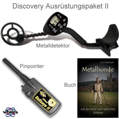 Metalldetektor Ausrüstungspaket Discovery 3300 mit Whites Bullseye II Pinpointer